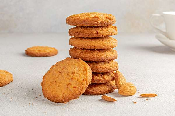 Almond Tea Crunch Cookies